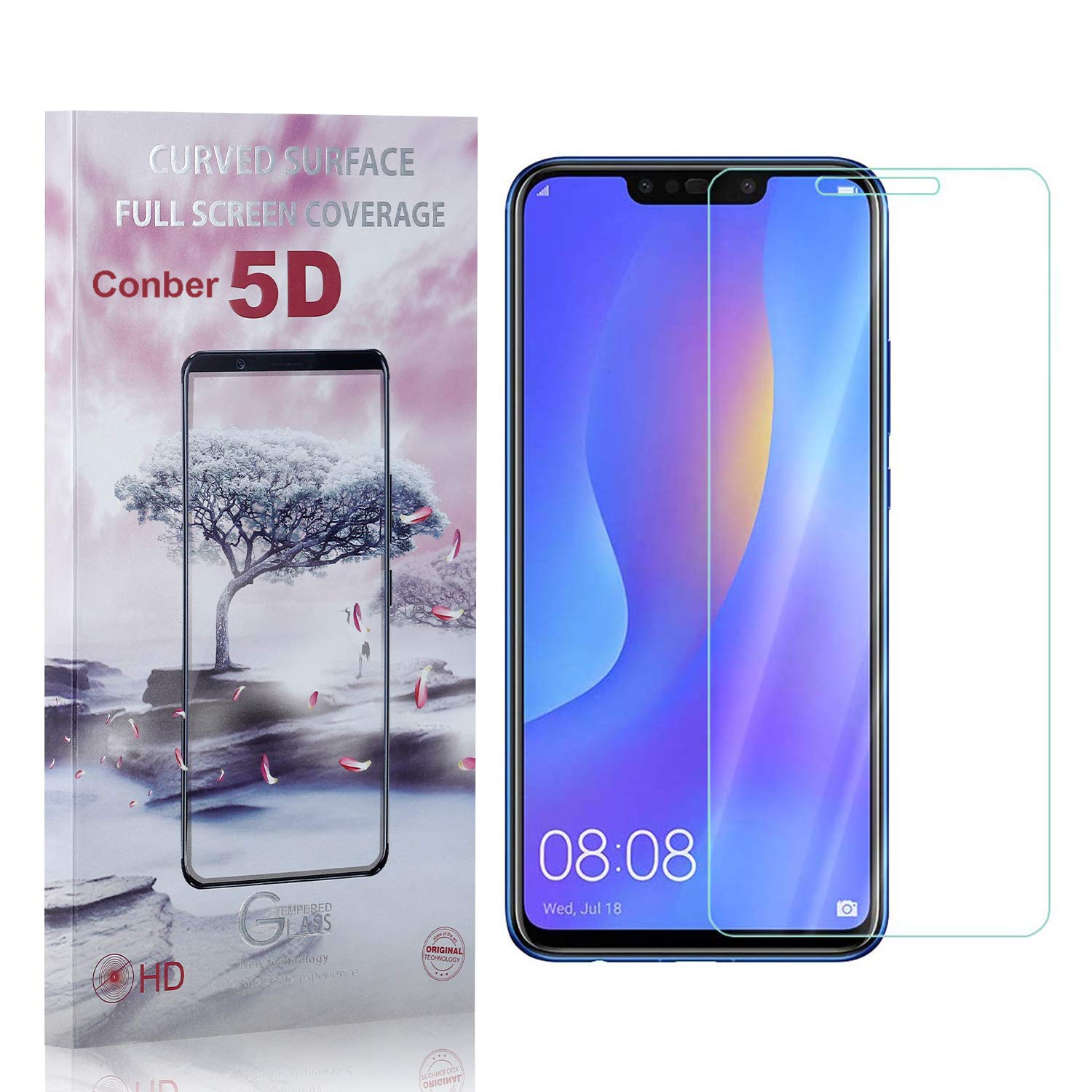 Conber 4 Pack Tucson Mall Screen Protector for Smart 2018 Plus Huawei outlet P