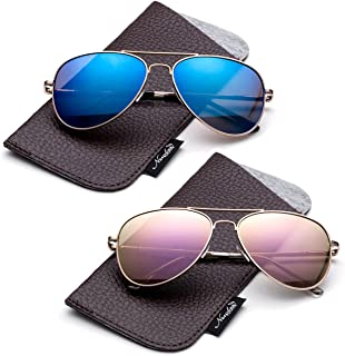 Kids Juniors Aviator Polarized Sunglasses HQ Durable Stainless Steel Frame