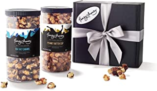 Funky Chunky Gourmet Popcorn Sea Salt Caramel & Peanut Butter Cup Snack Care Package Variety Pack, 19 oz (Pack of 2) in Gi...