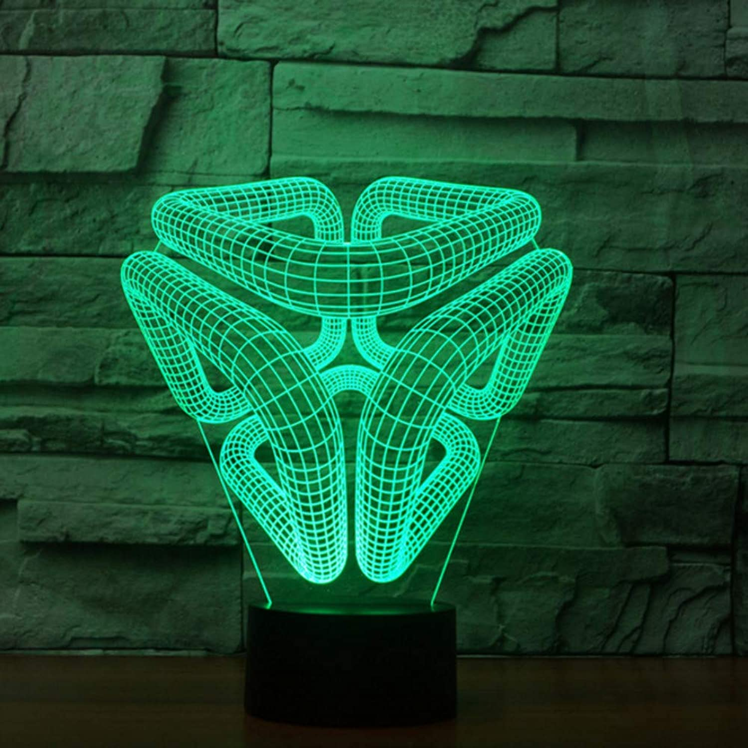 Zonxn 7 color Changing Modern Design Nightlight Led Abstract Image 3D USB Novelty Illusion Luminarys Desk Lamp Kid Home Bedside Decor
