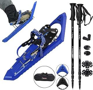 Raquetas Nieve Ligero Adulto 38-45 Bolsa Transporte Bastones Opcional