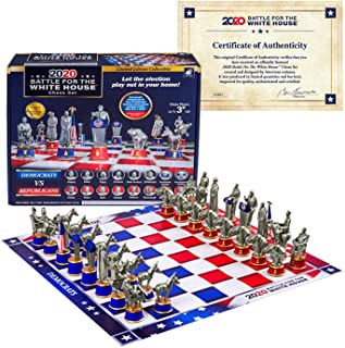 As Seen On TV Collector's Edition 2020 Battle for The White House Chess Set Board Game by BulbHead - Chess Pieces Look Jus...