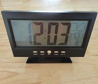 Reloj Despertador Proyector a pilas - Mod.0553 Color plata: Amazon ...