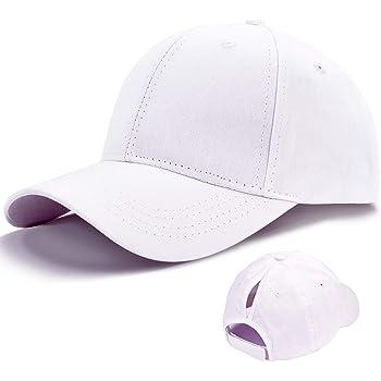 Damen Baseball Kappe Washed Vintage Caps Unisex Verstellbar Pferdeschwanz Baumwolle Baseballm/ütze Sport Outdoor Herren Hip-Hop-Hut Baseball Cap