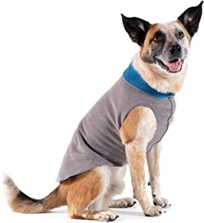 Gold Paw Duluth Double Fleece Dog Coat Pullover – Soft, Warm Dog Clothes, 4-Way Stretch Pet Sweater – Machine Washable, All-Season