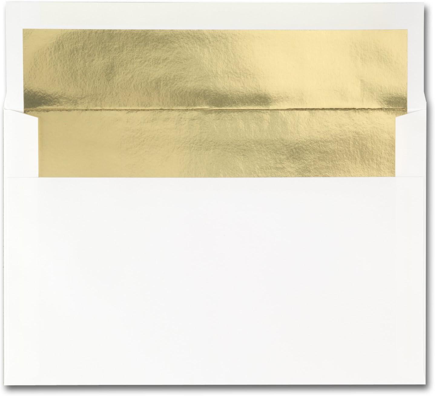 Fine Impressions 250-Count Gold Foil-Lined 正規取扱店 I White 新着 for Envelopes