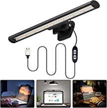Laptop Computer Monitor Lamp, Quntis Screen Light Bar E-Reading LED Task Lamp with No Glare on Screen for Eyes Care, USB-P...