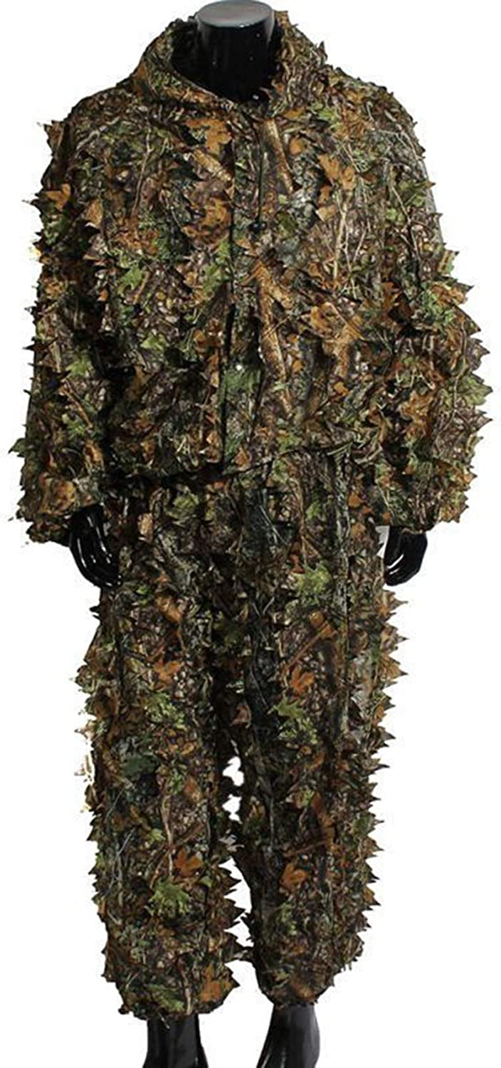 Woodland Camouflage Clothing Army Sniper Military Clothes for Jungle Hunting,Shooting, Airsoft, Wildlife Photography or Halloween