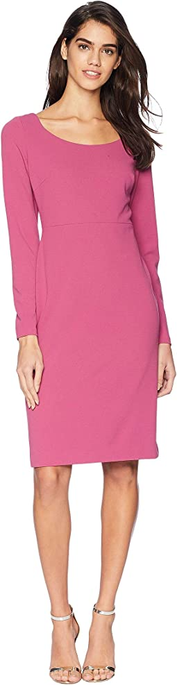 Long Sleeve Scuba Sheathe Dress