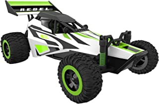 Force1 Fast Remote Control Car - Rebel 1/32 Scale RC Buggy with Ramp and Cones for All Terrain RC Cars Rechargeable Stunt ...