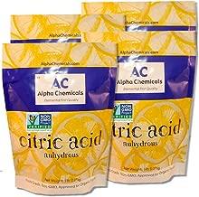 Non-GMO Project Verified Citric Acid - 20 Pounds (4-5 lb bags) - Organic, 100% Pure - Alpha Chemicals