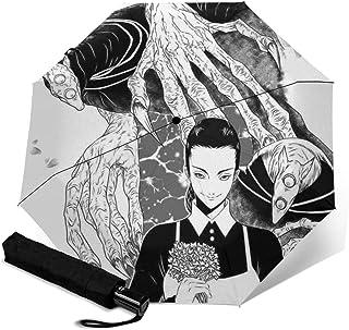 约会尼伯兰 折叠伞 一键自动开合【最新版&2层构造】耐强风 超防水 210t高强度玻璃纤维 防紫外线 隔热 结实 带伞套