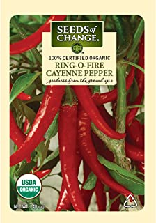 Seeds of Change S10789 Certified Organic Ring-O-Fire Cayenne Pepper
