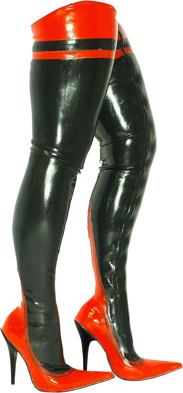 Latex Stiefel Gummi Rubber high Heel 13cm Bolingier Poland Größe 36-47 FS1003
