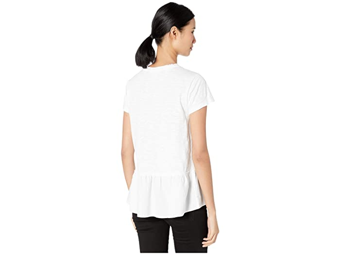 Dylan By True Grit Scout Tee With Ruffle Cotton Hem- Ropa De Mujer