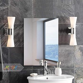 Art Street Frameless Rectangle Bevelled Mirror Size 12 x 18 Inch