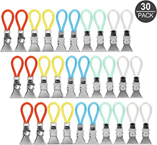 Multifunktions Handtuchclips f/ür Bad Handtuchhalter-Clips Metall K/ücher Gobesty 20 St/ück Handtuch Haken Clip