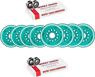 Labeda Wheels 80mm /76mm Hilo Set Union Teal Inline Hockey Bones Swiss