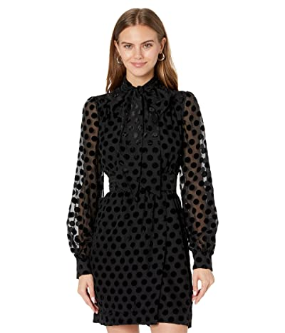 Bardot Tie Neck Mini Dress
