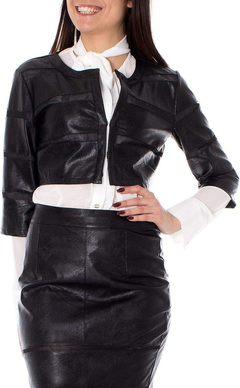 Rinascimento Women's 277679 Black Polyurethane Jacket