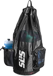 Mesh Swim Bag - Scuba Dive Bags - Swimming Equipment Bag with Shoulder Straps Drawstring - Heavy Duty Mesh Bag - Designed by Athletes for Athletes
