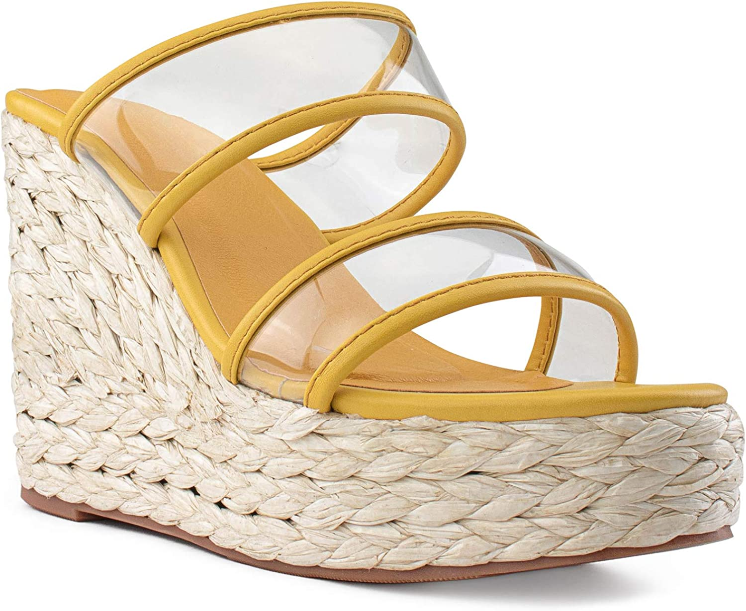 RF ROOM OF FASHION Large-scale sale Women's Clear Band Wedge Max 54% OFF Sandals