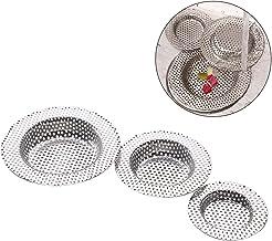 3 stks grote, middelgrote en kleine gootsteen filter, roestvrijstalen filter voor gootsteen, gootsteen filter, riool afvoe...