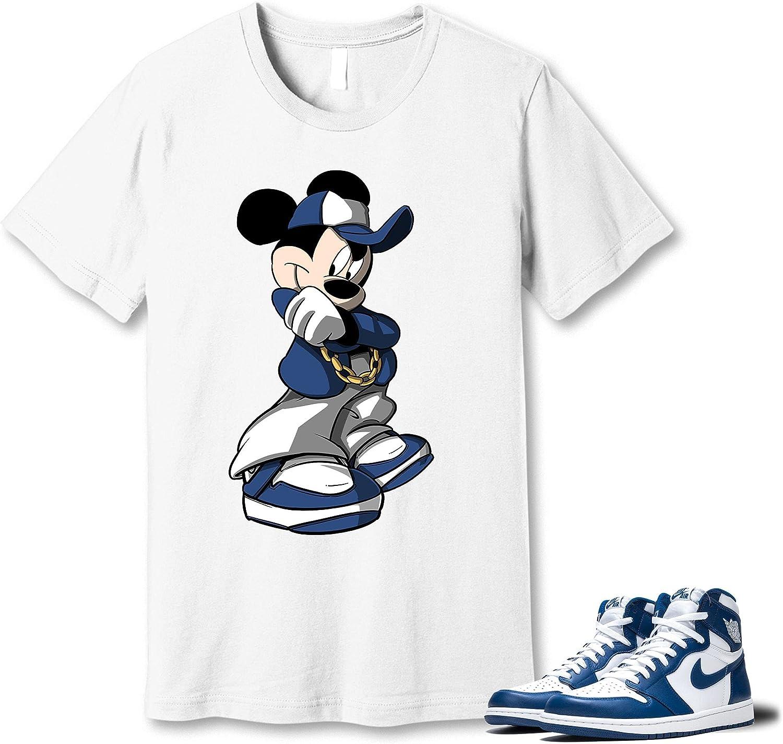 Rapid rise Selling rankings #Mickey Mouse White T-Shirt to Match Blue 1 Snea KO Jordan Storm