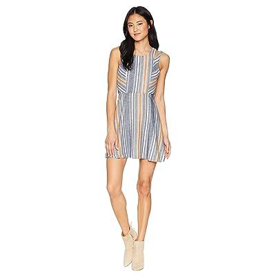 BCBGeneration Variegated Stripe Dress (Blue Multi) Women
