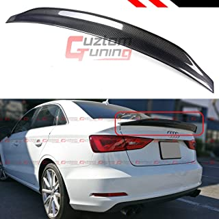 Cuztom Tuning Fits for 2014-2018 Audi A3 S3 RS3 Sedan Cat Style Highkick Carbon Fiber Trunk Spoiler Wing