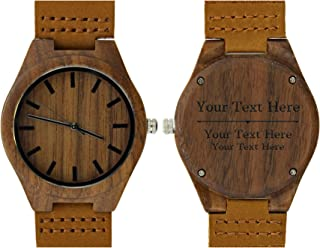 Personalized Watch 3 Line Engraved Watch Retirement or Graduation Gift Engraved Wood Watch Gift Set