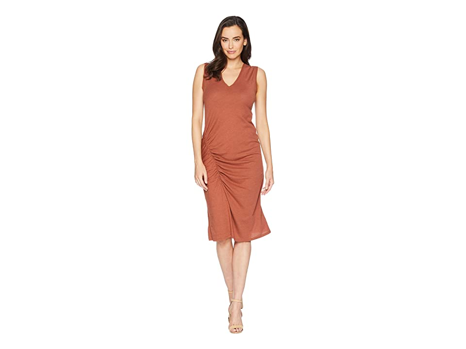Kenneth Cole New York Gathered Detail Chiffon Trimed Dress (Sequoia) Women