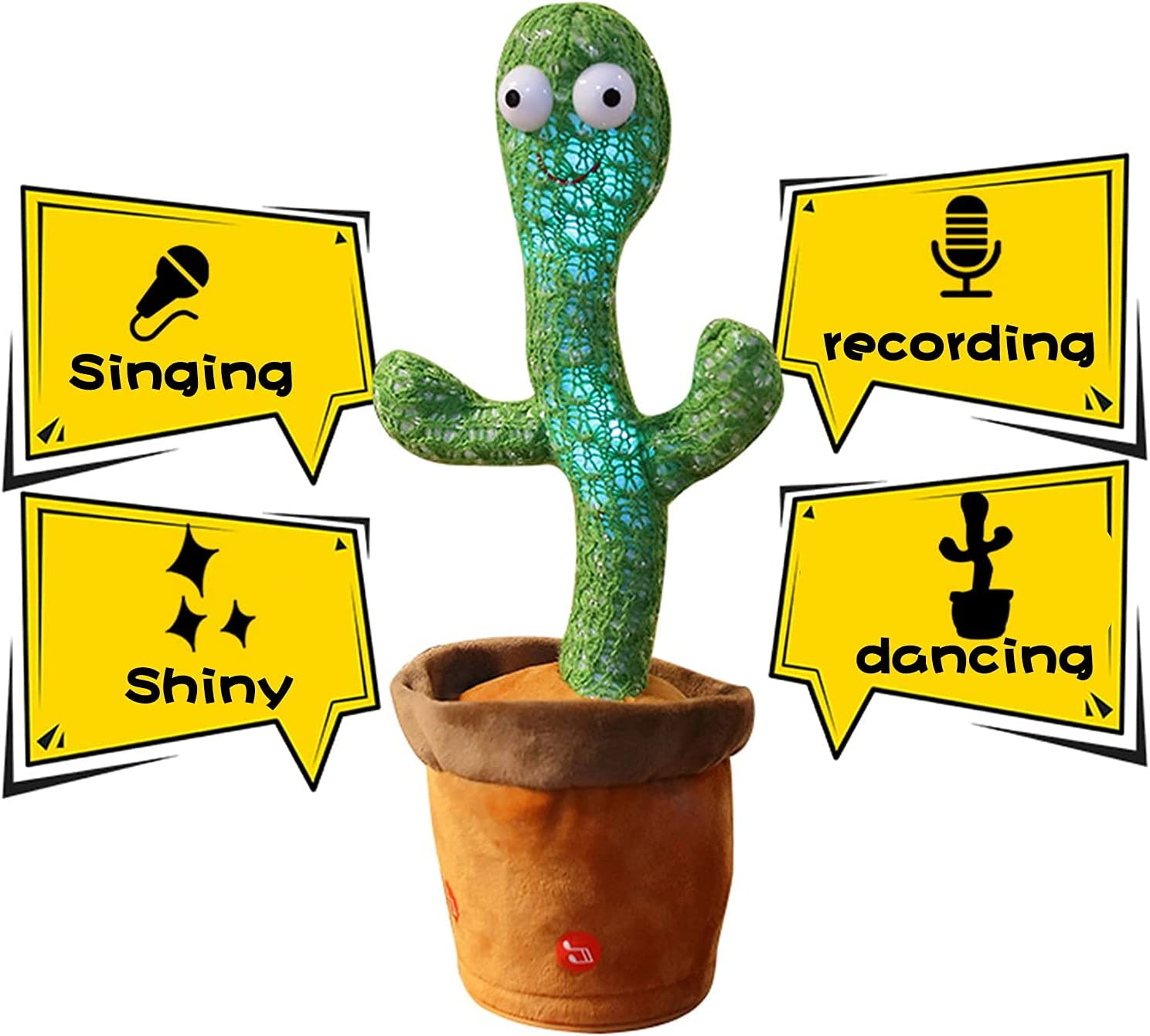 Buy Asionper Dancing Cactus Plush Toys, Cactus Toys for Babies Toddlers  Kids 3 Months and up, Dancing Recording Talking Singing, Dancing Cactus  Plush in Pot, Gifts for 1, 2, 3 Year Old