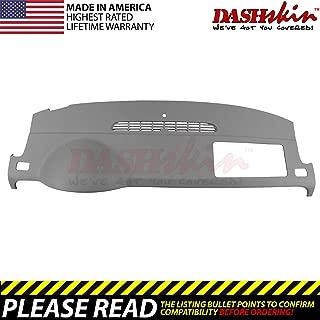 DashSkin Molded Dash Cover Compatible with 07-14 GM SUVs w/o Dash Speaker in Dark Titanium (USA Made)