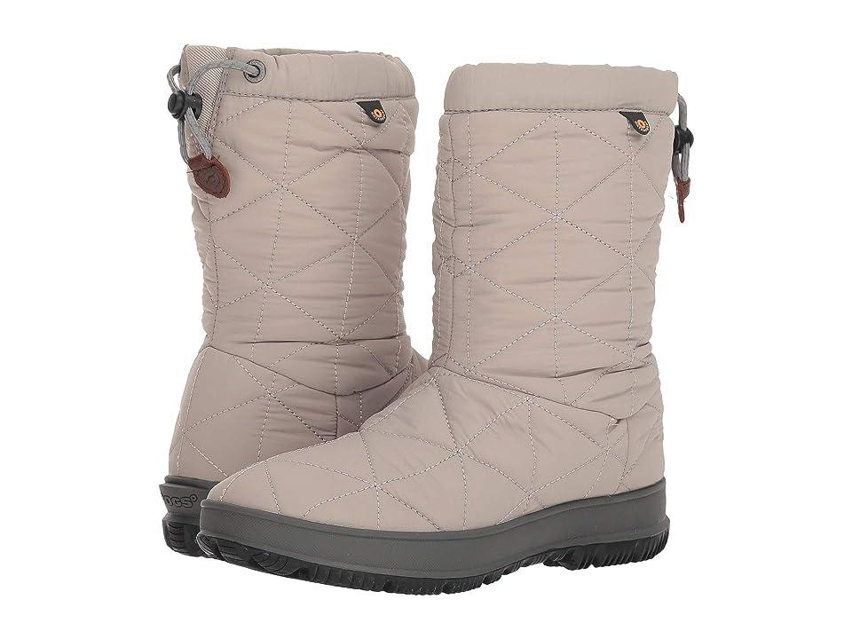 Bogs Snowday Mid (Light Gray) Women
