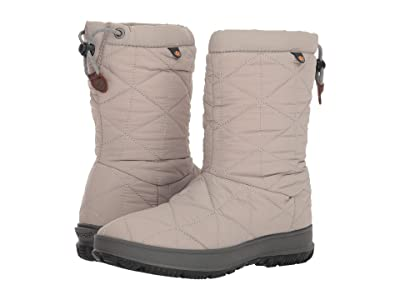 Bogs Snowday Mid (Light Gray) Women