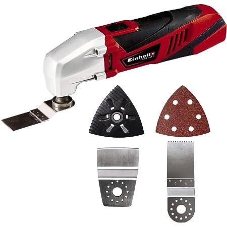 Einhell Outil multifonctions TC-MG 220/1 E (220 W , Dimensions du papier abrasif : 93x93x93 mm, Livré avec accessoires)
