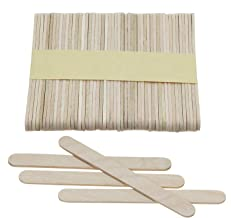 Mini Skater 3.7 Inch Natural Wood Ice Cream Sticks Wooden Craft Sticks with Rounded Ends for Hand DIY Craft,Pack of 50