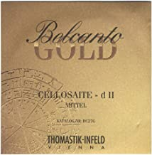 Thomastik-Infeld BC27G Belcanto Gold Cello Strings, Single D String, BC27G, 4/4 Size, Steel Core Multialloy Wound