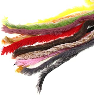 wifreo 16 Packs Faux Rabbit Strips 3mm Zonker Double Bunny Streamer Fly Tying Materials
