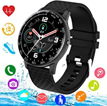 Smart Watch, Smartwatch for Android Phones, Waterproof Fitness Watch with Blood Pressure Heart Rate Monitor Sport Activity Tracker Watch with Pedometer Calorie Compatible for Samsung iOS Women Men