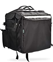 Insular Telescope Foldable Insulated Delivery Backpack - Black (os) | Premium Multipurpose Bag for hot Food delivery, Grocery, Barbeque (BBQ), etc. | Can be Compressed, expanded and compartmentalized