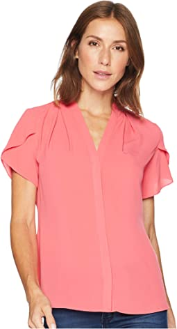 Tulip Sleeve V-Neck Top