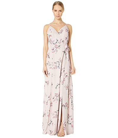 WAYF Angelina Gown (Nude Rose Floral) Women