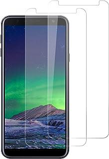 DOSNTO Protector de Pantalla para Samsung Galaxy J4 Plus/ J6 Plus 2018, [2 Piezas] Cristal Vidrio Templado película Protectora Premium [Dureza 9H] [Funda Compatible] [Anti-Arañazos] [Sin Burbujas]