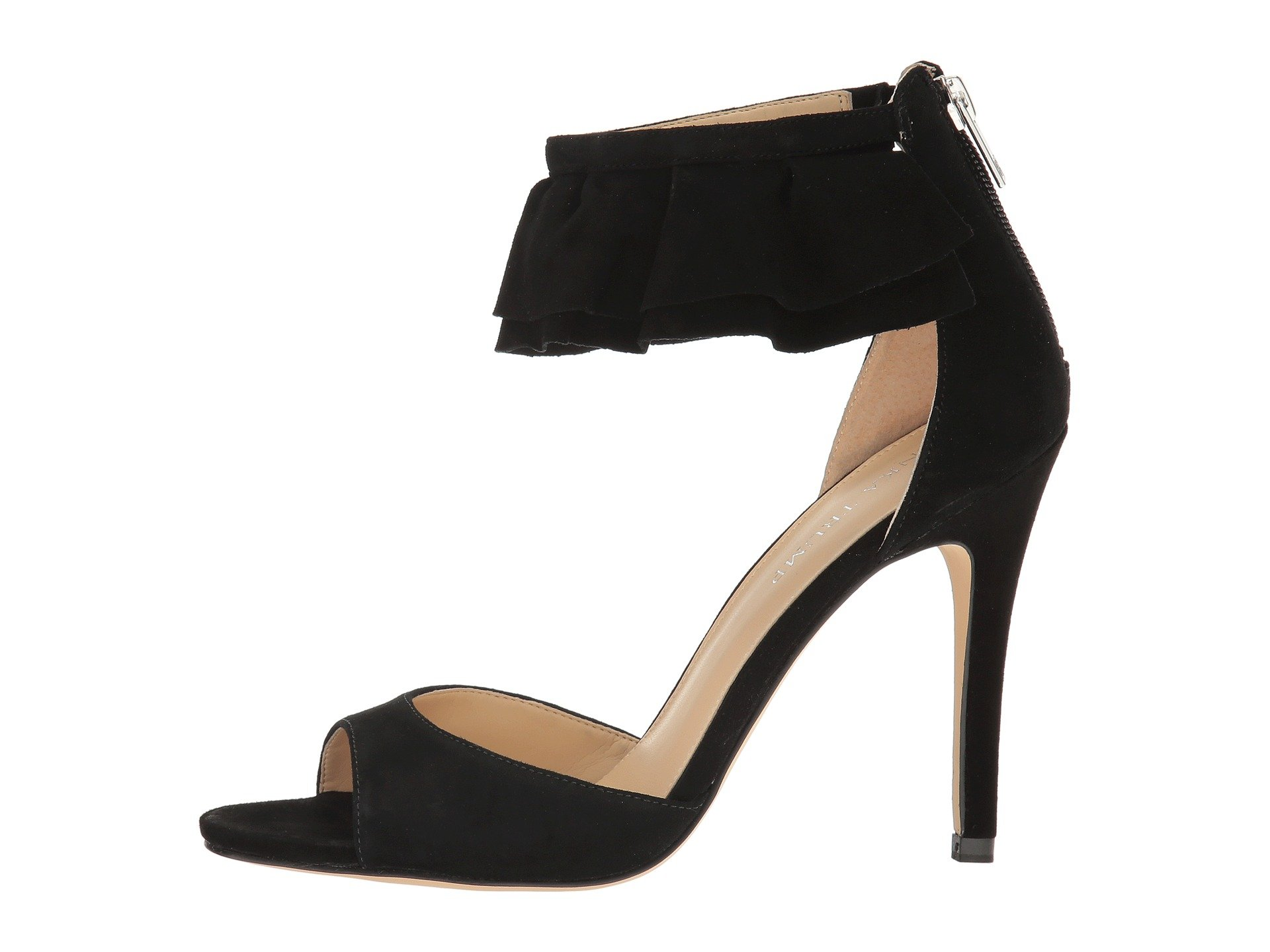 Ivanka Trump Herlle Ruffle Ankle Strap High-Heel Sandals