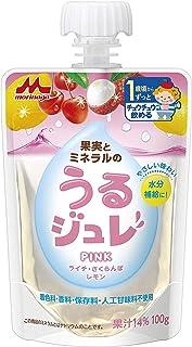 森永 果実とミネラルのうるジュレ PINK (ライチ・さくらんぼ・レモン) 果実とミネラルの水分補給ジュレ 【1歳頃からずっと】
