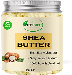 Siddhsrot naturals -Organic Raw Unprocessed Shea Butter, 100 Gm