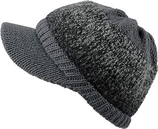 WITHMOONS Women's Winter Visor Knit Beanie Hat Warm Chunky Skull Cap SLQ1243