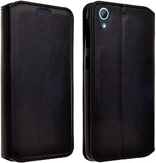 Desire 530 Case, HTC Desire 530 Wallet Case, Wrist Strap Flip Folio [Kickstand Feature] Pu Leather Wallet Case with ID&Credit Card Slot For HTC Desire 530 (Black Leather)